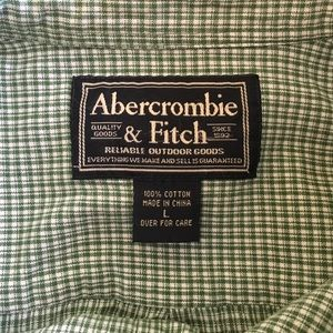 Abercrombie & Fitch Shirts - Men's Abercrombie & Fitch Green/White Button Down